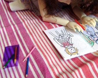 Livre de coloriage et crayons pour BJDs