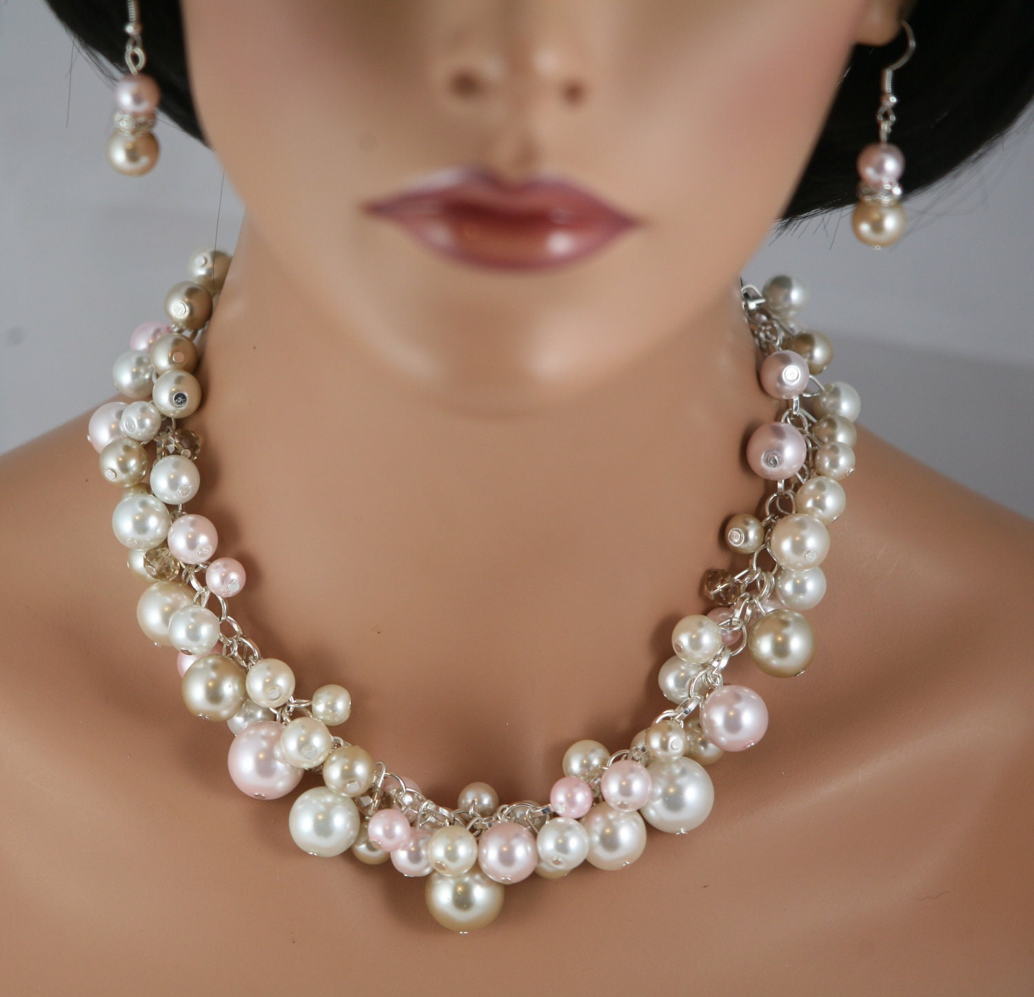 Cluster Pearl Necklace Re Re