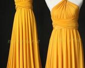 Wedding Infinity Maxi Dress Wrap Convertible Dress Bridesmaid Dress Yellow Formal Prom Dress