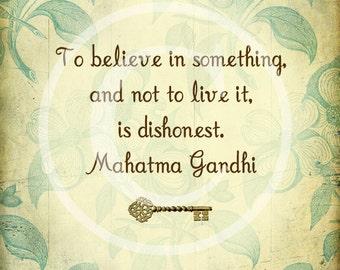 Inspirational Gandhi Poster - instant digital download
