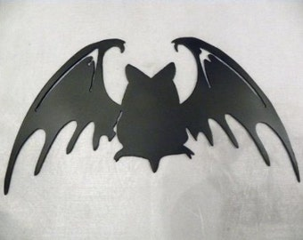 Black Bat Metal Wall Art Halloween Decor