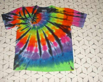 Tie dye shirt, rainbow with stained glass- INSTANT HIPPY HALLOWEEN costume