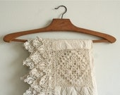 vintage handmade french lace panel 3 yards  2.85 meters