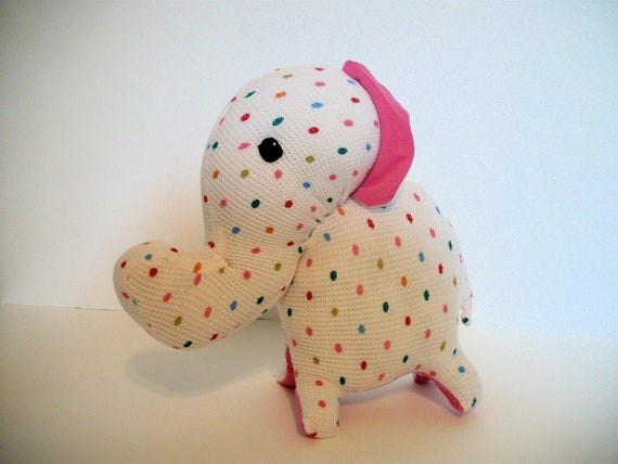 Elephant Plush Recycled Polka Dot- Valancy
