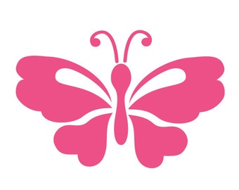 Butterfly Stencil Painting Kids or Baby Room Wall Mural (SKU131-istencil)