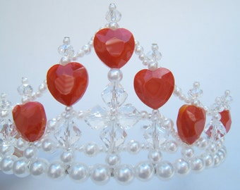 Red Hearts and Crystal Child's Tiara