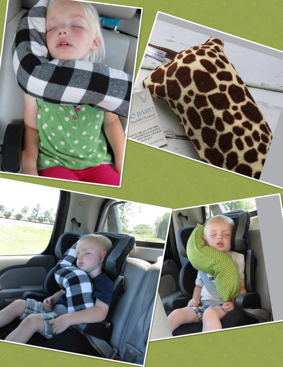 erGO BABY Bendable baby / toddler headrest carseat pillow and cover in giraffe