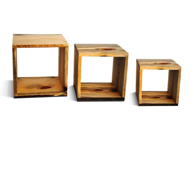 Reclaim Wood Storage Cubes three nested storage by naturallyaspen