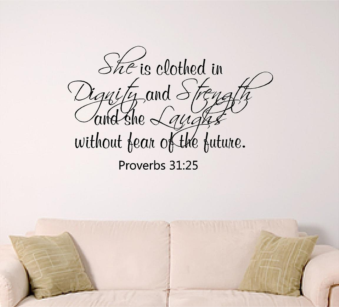 Proverbs 31 25: Proverbs 31 Wall Art Girl Wall Decal Dorm Room Wall Decor