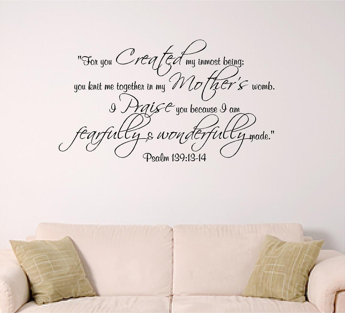 Psalm 139 wall decal bible verse decal nursery dorm church zoom amipublicfo Choice Image