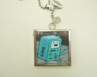 Adventure Time Reversable Finn Fionna Beemo Cartoon Network Necklace