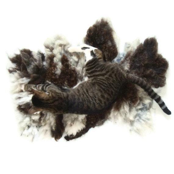 Cat Bed Mat Wool Fleece Felted Rug - Jake