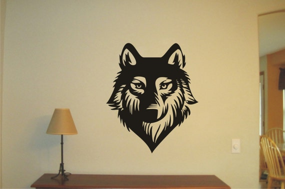 wolf wild life vinyl decal wall sticker wall tattoo wall. Black Bedroom Furniture Sets. Home Design Ideas