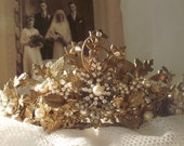 STUNNING VINTAGE TIARA, very ornate for a romantic wedding or ball.
