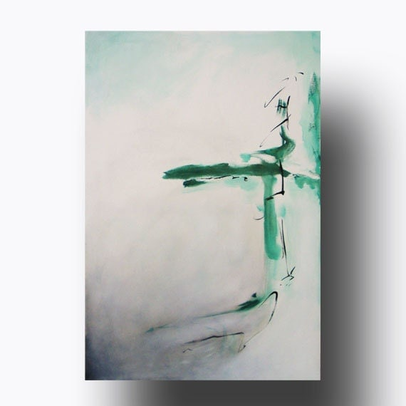 large abstract painting minimalist art by heatherdaypaintings
