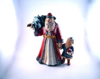 Great Santa and Boy Walking together