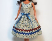 Fall Roses - Barbie Doll Dress Handmade Barbie Doll Clothes