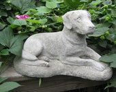 Concrete LABRADOR RETRIEVER Dog Statue- (Shipping is for West of the Mississippi River)
