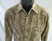 Vintage 1980s Soft Wrangler Western Shirt - Size Small