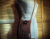 Crocheted Purse with Fringe / Bohemian Chic / Hippie