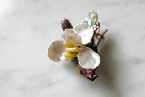 Single Orchid Baby Barrette