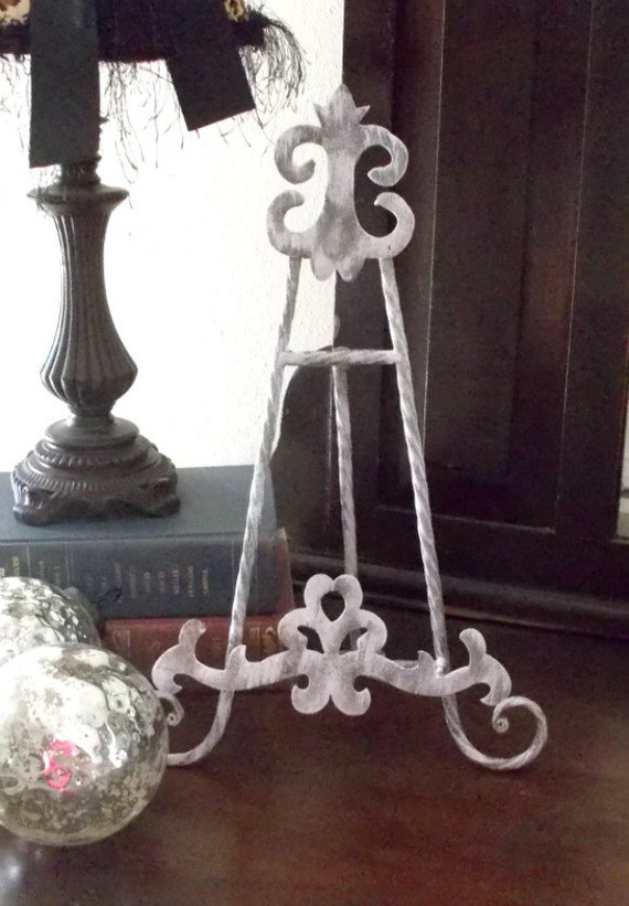 Shabby Wedding Easel Distressed Easel Shabby Decor Metal Easel