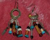 Indian Outlaw Vintage Dangle Earrings gypsy southwestern