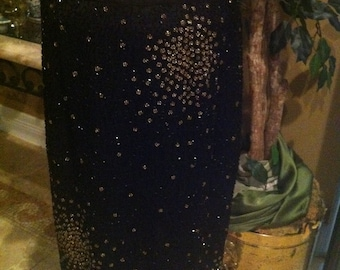 An Adriane Papell Black Silk Gold Beaded Sequin Skirt ideal with any top