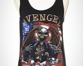 Avenged Sevenfold Black Singlet Tank Top Sleeveless Art Horror Punk Rock Black T-Shirt Size M