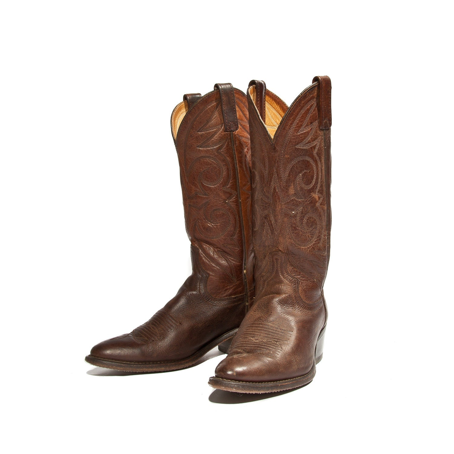 s brown cowboy boots by acme country western