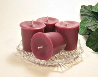 4 pack votive candles Black Raspberry Vanilla scent