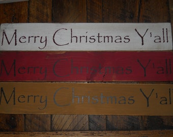 Primitive Rustic Merry Christmas Sign