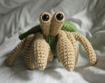 Herman the Hermit Crab - Amigurumi Plush Crochet PATTERN ONLY (PDF)