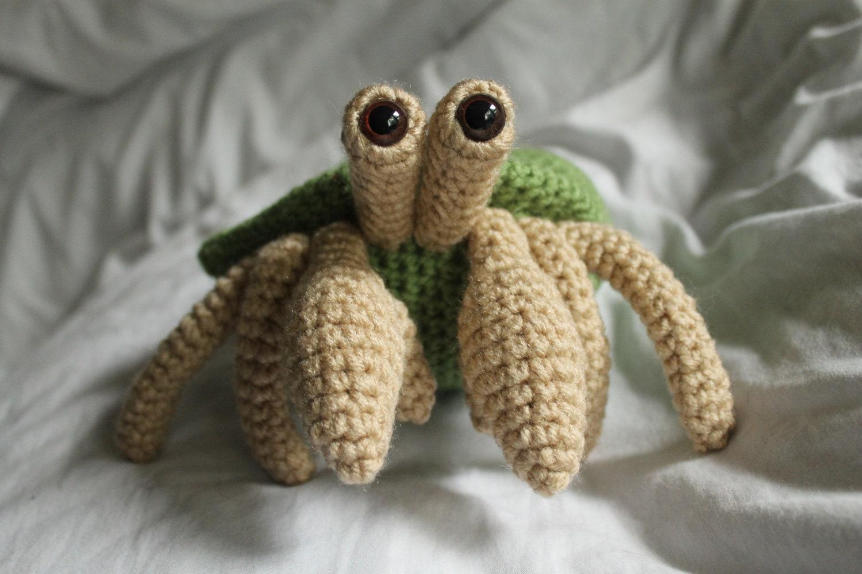 Herman the Hermit Crab Amigurumi Plush Crochet by daveydreamer