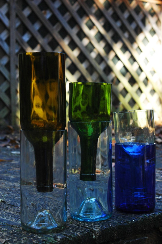 Items similar to your choice any color or size self for Things made from wine bottles