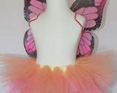 Pink Monarch Butterfly Costume - Halloween - Photo Prop- Butterfly - Halloween Costume