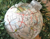 Map Ball Ornament