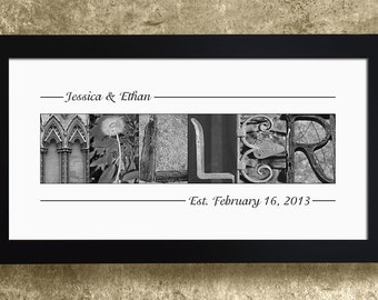 PERSONALIZED WEDDING GIFT - Wedding Decoration, Family Name Sign, Alphabet Letters Print