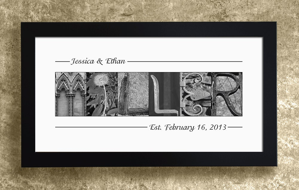 wedding name frame wedding decoration family name sign