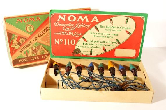 Vintage / Antique NOMA Christmas Lights In Original Box
