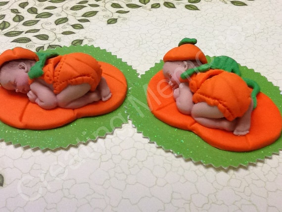 Twin Pumpkin  Babies My Favor Time  CAKE toppers/Baby boy or Girl Toppers. First baby boy/ birthday cake, Cake Supplies and Decorations
