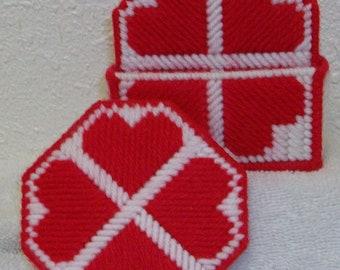1037 Heart Coasters