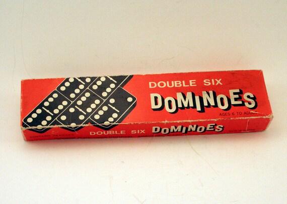 Vintage Wood Double Six Dominoes