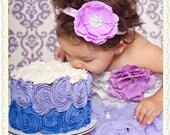 Baby Headband..Lavender Flower Headband..Infant..Newborn Headband..Toddler..Lavender Headband..Light Purple Flower..Newborn Photo Prop