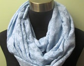 Baby Blue Stretch Lace Infinity Scarf
