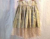 SALE Pouf gold golden autumn glitter bouffant handmade tulle underskirt lace roses party  wedding skirt