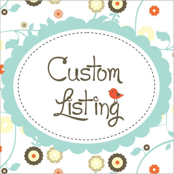 Custom Listing for Phyllis