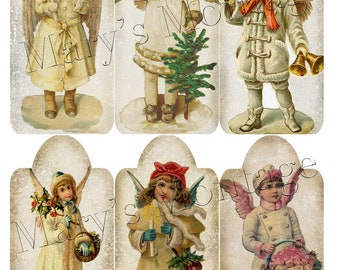 Victorian Christmas Angel Tags Download & Print