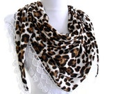 Traditional Turkish-style,  Necklace scarves,mothers day, scarf, gift, fashion, 2014, Special Fashion, spring celebration, leopard