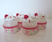 Christmas Ornament / Cupcake ornament / Mini Ornament Set